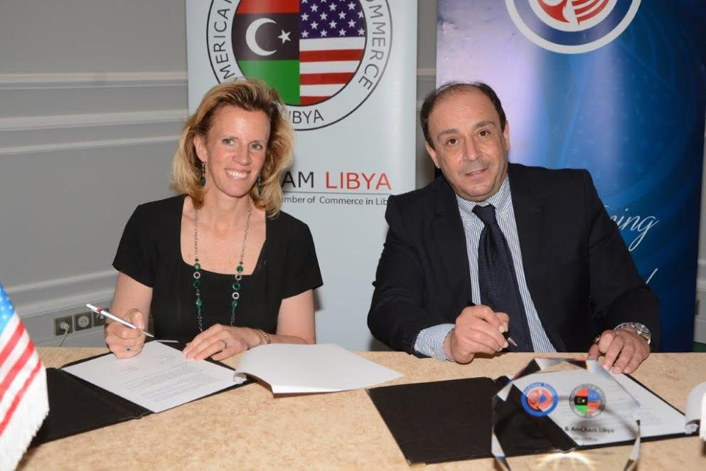 KHALED BABBOU SIGNED AN MOU WITH AMCHAM LIBYA